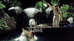 Steve Irwin and Terri Irwin in 'Crikey'