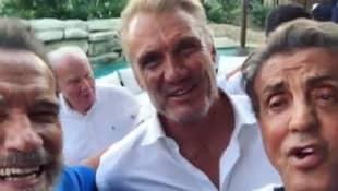 Sylvester Stallone, Arnold Schwarzenegger and Dolph Lundgren
