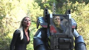 Tara Reid and Ian Ziering in 'Sharknado 4: The 4th Awakens'