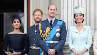 Duchess Meghan, Prince Harry, Prince William and Duchess Catherine