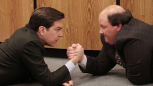 Ed Helms and Brian Baumgartner