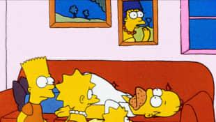 Bart Simpson, Lisa Simpson, Homer Simpson, Maggie Simpson