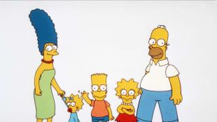 Marge Simpson, Maggie Simpson, Bart Simpson, Lisa Simpson, Homero Simpson