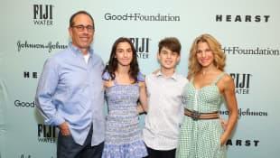 Jerry Seinfeld and his family