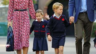 Princesa Charlotte y príncipe George