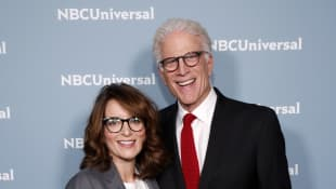 Tina Fey and Ted Danson