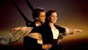 Leonardo DiCpario and Kate Winslet in 'Titanic' in 1997.
