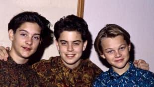 Tobey Maguire, Alex Polinsky, and Leonardo Dicaprio.