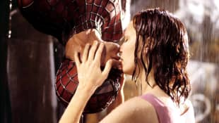 Tobey Maguire and Kirsten Dunst in 'Spiderman'