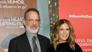 "Tom Hanks says that his role of ""Mister Rogers"" helped him keep his marriage to Rita Wilson strong"
