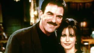 Tom Selleck and Courteney Cox