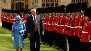 Donald Trump welcomed by guard of honour at Windsor Castle