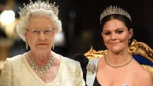 Incredible parallels between Crown Princess Victoria and Queen Elizabeth II.