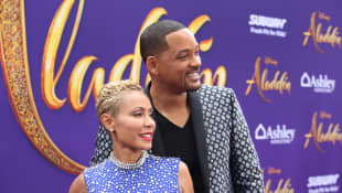 Jada Pinkett Smith and Will Smith at the Aladdin Premiere