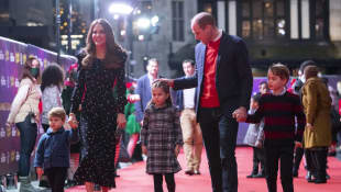 Príncipe William, duquesa Kate e hijos