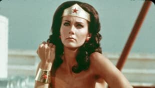 "Lynda Carter as ""Wonder Woman"" from 1975 to 1979"