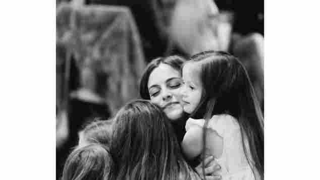 Riley Keough and twins Harper and Finley