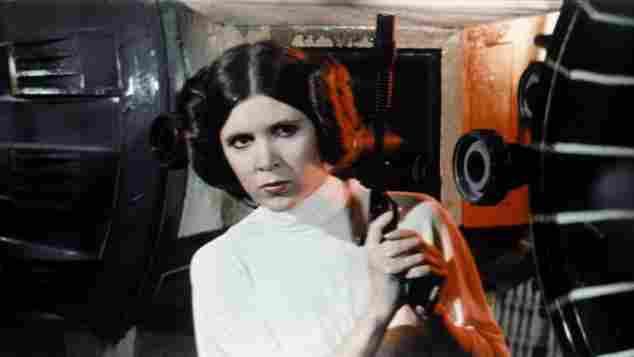 Carrie Fisher como la Princesa Leia en 'Star Wars'