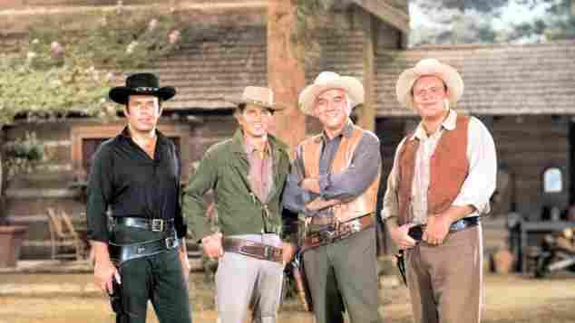 Classic Western TV Shows Quiz series Bonanza Gunsmoke Big Valley Johnny the Rifleman retro trivia questions facts history actors stars