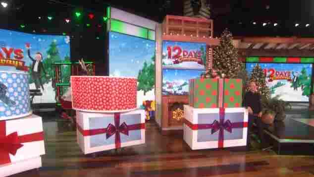 Ellen in her 12 Days of Giveaways Show