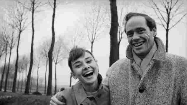 Audrey Hepburn and Mel Ferrer in 1956 Paris