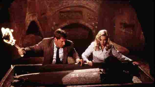 "Harrison Ford und Alison Doody in ""Indiana Jones"""