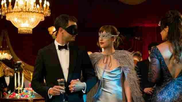 "Jamie Dornan and Dakota Johnson in ""50 Shades of Grey"""