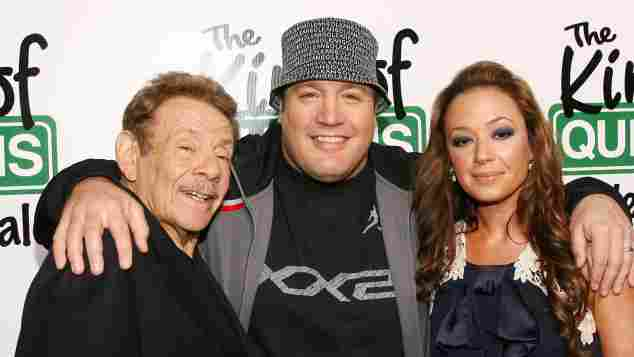 Jerry Stiller, Kevin James and Leah Remini at the premiere for the final season of The King of Queens.