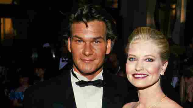 Patrick Swayze with Lisa Niemi at the Oscars 1989