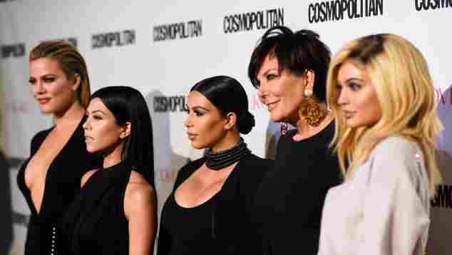 Khloe Kardashian, Kourtney Kardashian, Kim Kardashian, Kris Jenner and Kylie Jenner attend Cosmopolitan's 50th Birthday Celebration.