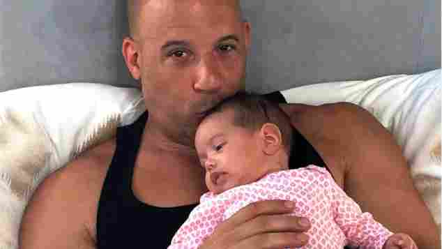 Vin Diesel and his daughter Pauline