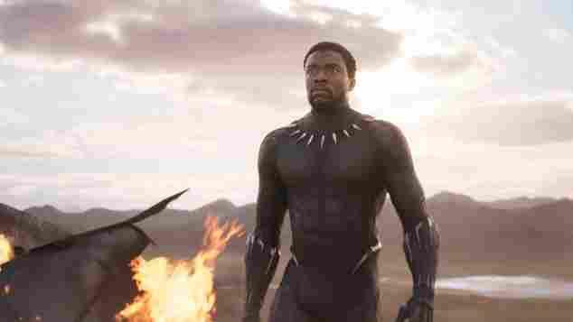 "Chadwick Boseman as ""Black Panther"""