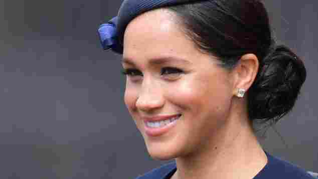 Duchess Meghan attends the 2019 Trooping the Colour Celebrations