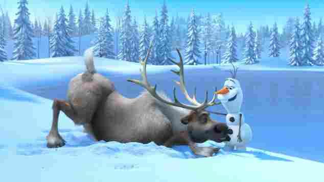 """""""Sven"""" y """"Olaf"""" en 'Frozen'."""