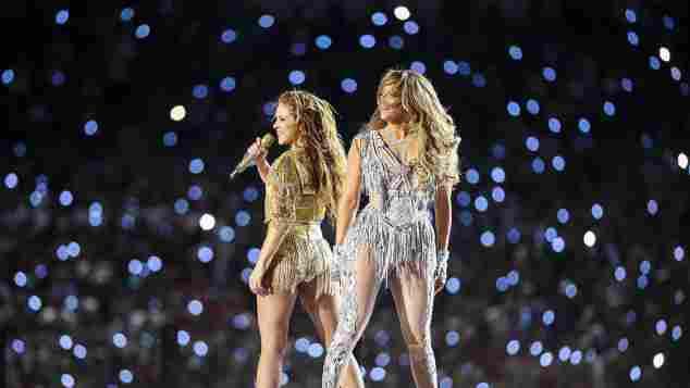 Shakira and Jennifer Lopez at the 2020 Super Bowl