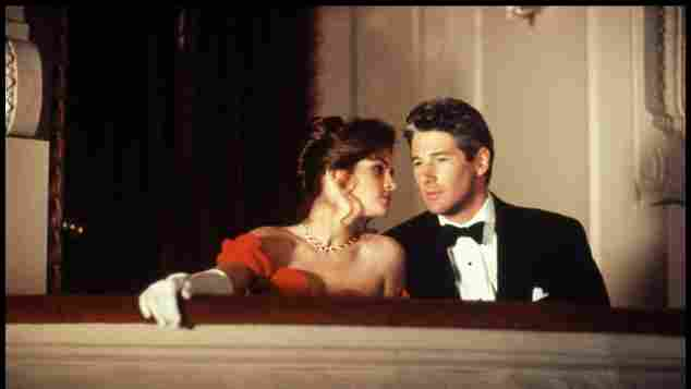 """Julia Roberts and Richard Gere as """"Vivien"""" and """"Edward"""" in 'Pretty Woman'."""