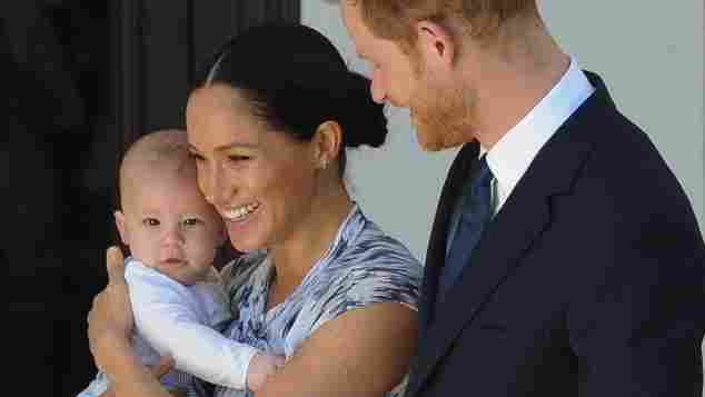 Prince Harry, Duke of Sussex, Meghan, Duchess of Sussex and their baby son Archie Mountbatten-Windsor meet Archbishop Desmond Tutu and his daughter Thandeka Tutu-Gxashe at the Desmond & Leah Tutu Legacy Foundation during their royal tour of South Africa on September 25, 2019