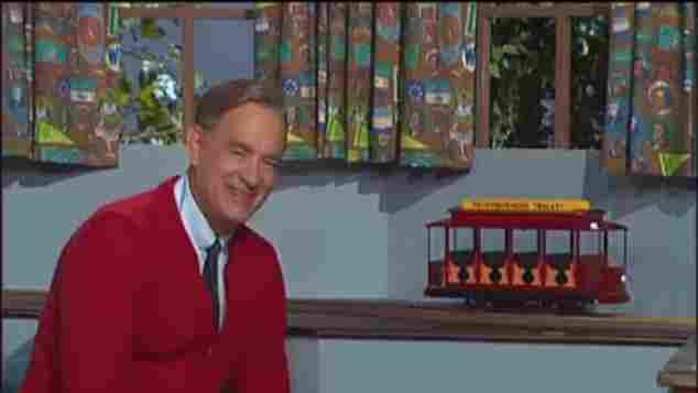 """Tom Hanks as """"Mister Rogers"""""""