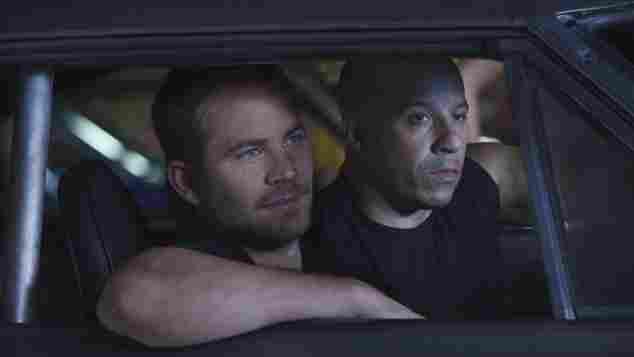 Paul Walker and Vin Diesel in 'Fast and Furious 5'.