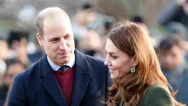 Prince William and Duchess Catherine in Bradford on Wednesday.