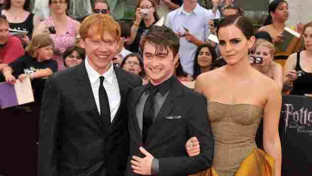 Daniel Radcliffe, Emma Watson y Rupert Grint en el estreno de 'Harry Potter y las reliquias de la muerte: parte 2', en julio de 2011, en Nueva York