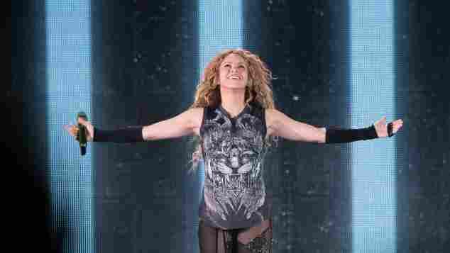 Shakira en concierto en el Madison Square Garden de Nueva York