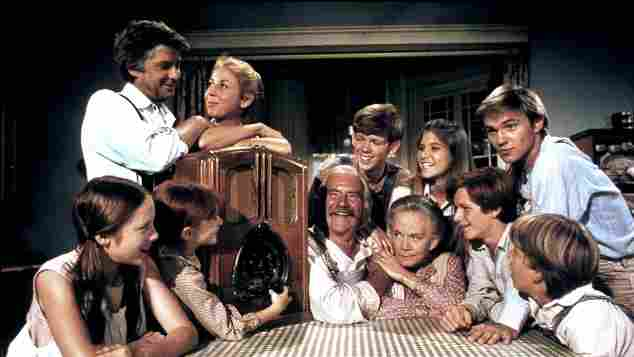 Still one of TV's most popular families: 'The Waltons'.