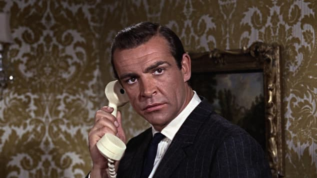"""Sean Connery starred as the iconic spy agent, """"James Bond""""."""