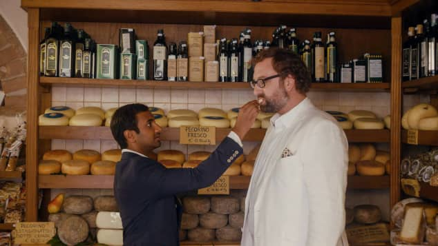 Aziz Ansari and Eric Wareheim in the Netflix series, Master of None.