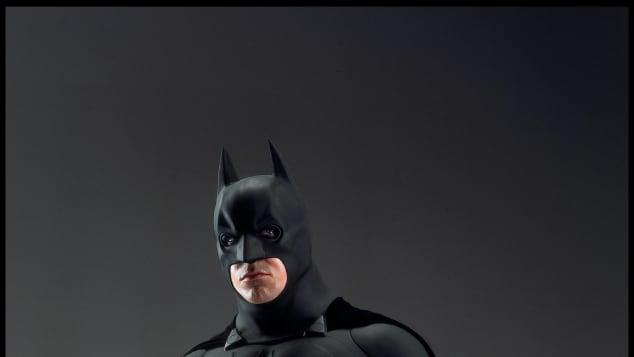 "Christian Bale as ""Batman"" in Batman Begins (2005), dir. Christopher Nolan."