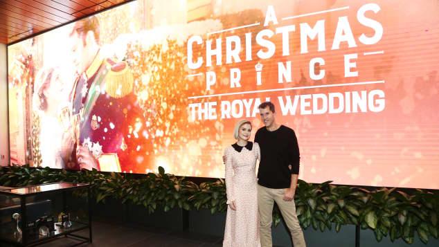 The stars of A Christmas Prince: The Royal Wedding