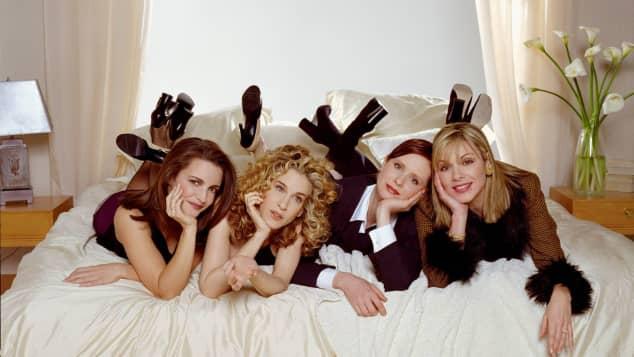 Kristin Davis, Sarah Jessica Parker, Cynthia Nixon y Kim Cattrall en una imagen promocional de la serie 'Sex and the City'