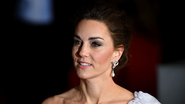 Catherine, Duchess of Cambridge attends the EE British Academy Film Awards at Royal Albert Hall on February 10, 2019 in London, England