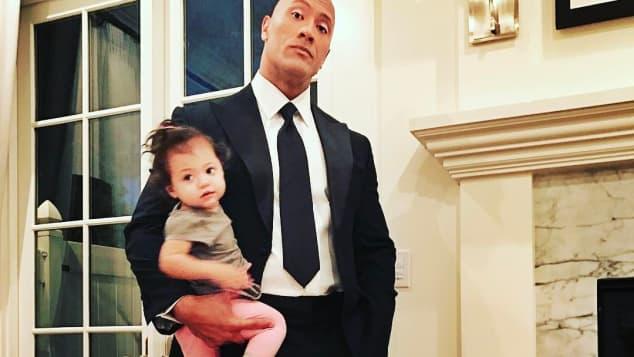 Dwayne Johnson mit seiner Tochter Jasmine